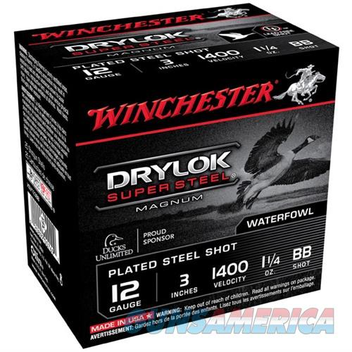 Winchester Drylok Super Steel 12ga 3'' 1-1/4oz #BB 25/bx  Non-Guns > Ammunition