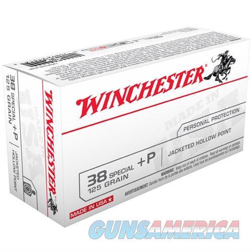 Winchester USA 38 Spl +P 125gr JHP 50/bx  Non-Guns > Ammunition