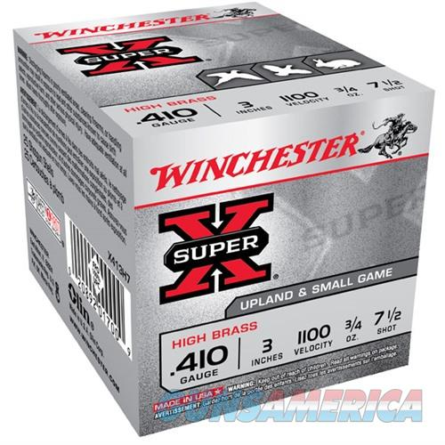WINCHESTER AMMO 410 GAUGE 3IN 3/4 OZ. #7.5 (25 ROUNDS PER BOX)  Non-Guns > Ammunition