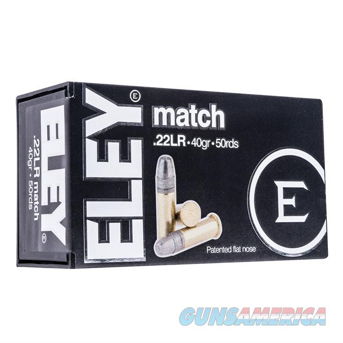 Eley Match Flat Nose 40gr 22LR 1085ft/sec 104.9ft/lb 50rd/Bx  Non-Guns > Ammunition