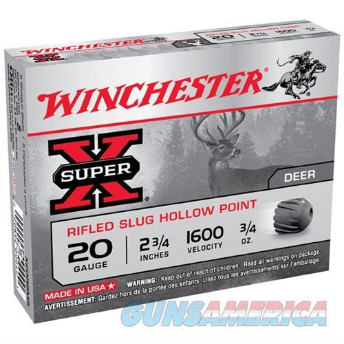 WINCHESTER SUPER-X RIFLED SLUG 20GAUGE 2.75' 3/4 OZ. VALUE PACK (  Non-Guns > Ammunition