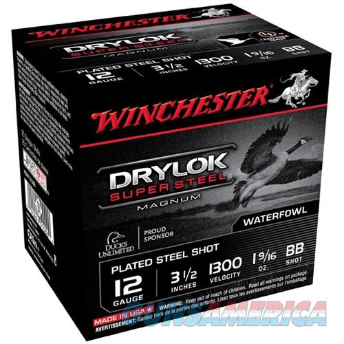Winchester Drylok Super Steel Mag 12ga 3.5'' 1-9/16oz #BB 25/bx  Non-Guns > Ammunition