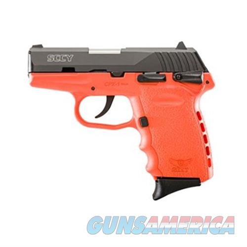 SCCY CPX-1 CBOR 9MM BLACK/ORANGE (DOUBLE SIDED SAFETY)  Guns > Pistols > SCCY Pistols > CPX1