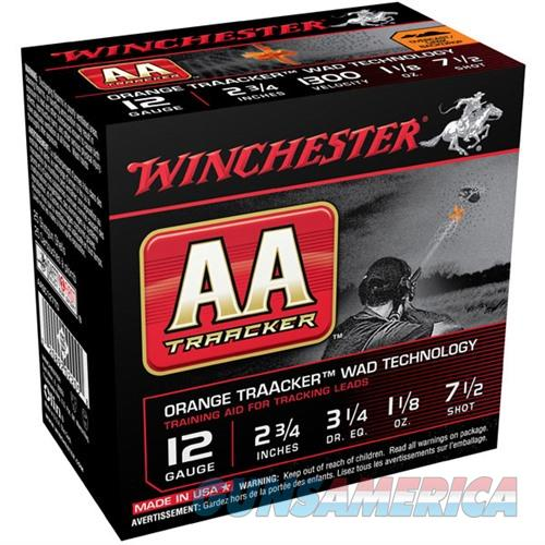 Winchester AA Traacker Orange Wad 12ga 2.75'' #7.5 1-1/8oz 25/bx  Non-Guns > Ammunition