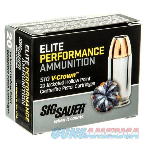 Sig Elite Performance 40 S&W 180gr V-Crown JHP 20/bx  Non-Guns > AirSoft > Ammo