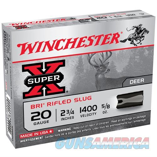 Winchester Super-X BRI Slug 20ga 2.75'' 5/8 oz. 5/bx  Non-Guns > Ammunition