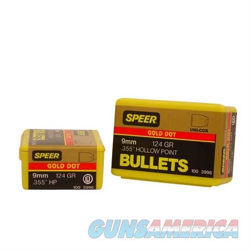 Speer Bullet 9MM .355 124gr.GDHP  Non-Guns > Reloading > Components > Bullets