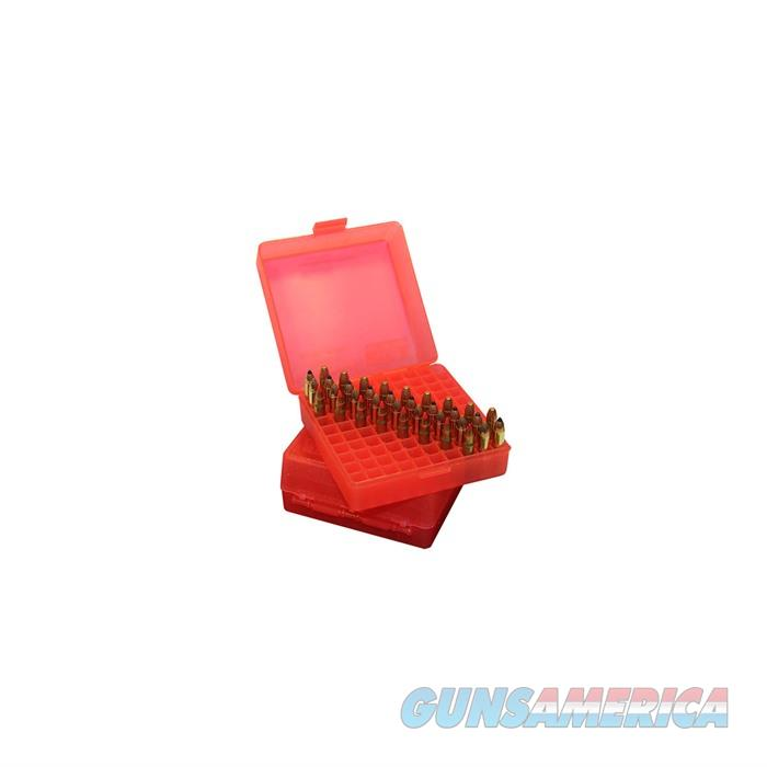 MTM  Ammo Box 100 Round Flip-Top 40 10mm 45 ACP Red  Non-Guns > Military > Cases/Trunks