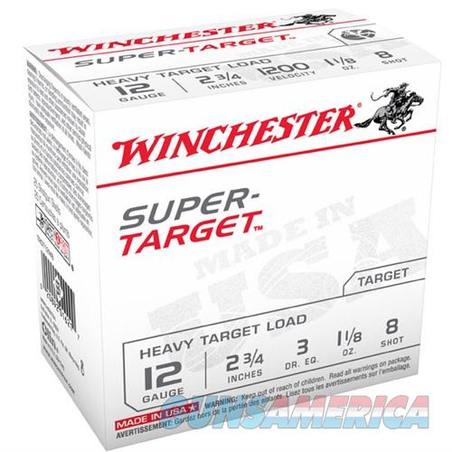 WINCHESTER AMMO 12 GAUGE 2 3/4IN 1-1/8OZ SUPER TARGET #8 (25 ROUN  Non-Guns > Ammunition