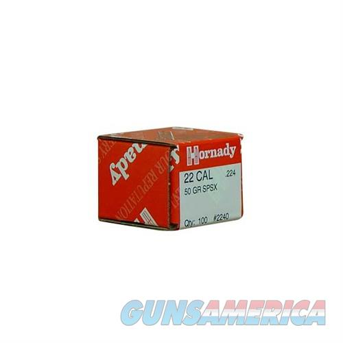 Hornady 22 CAL .224 50 GR SP SX  Non-Guns > Reloading > Components > Bullets