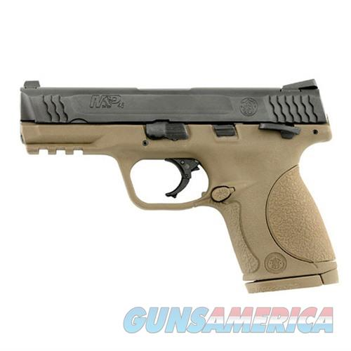 Smith & Wesson M&P45c Compact 45acp 4''  Bbl Thumb Safety FDE  Guns > Pistols > Smith & Wesson Pistols - Autos > Polymer Frame