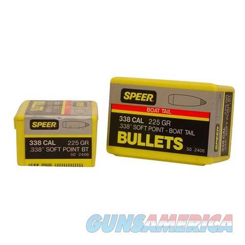 Speer Bullet .338 .338 225gr Sptzr SP BT  Non-Guns > Reloading > Components > Bullets