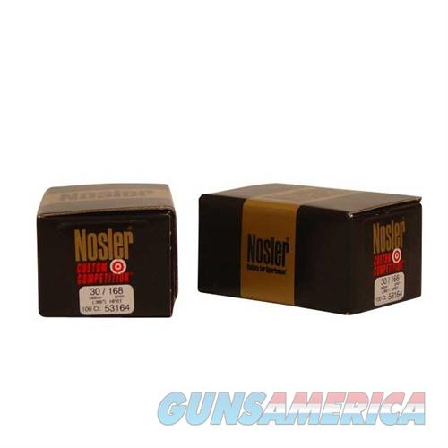 Nosler 30 Cal 168gr Custom Competition HPBT  Non-Guns > Reloading > Components > Bullets