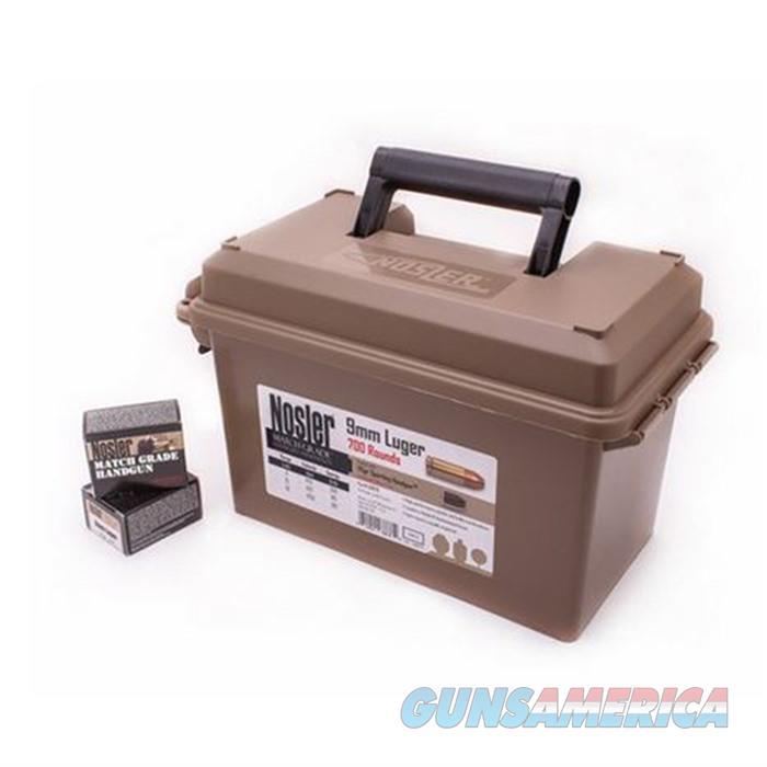 Nosler Ammo 9mm 115gr JHP (Match Grade Ammo) 700 ct Can  Non-Guns > Ammunition