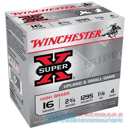 Winchester Super-X High Brass 16ga 2.75'' 1-1/8oz #4 25/bx  Non-Guns > Ammunition