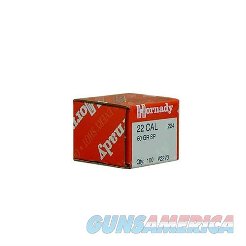 Hornady 22 CAL .224 60 GR SP  Non-Guns > Reloading > Components > Bullets