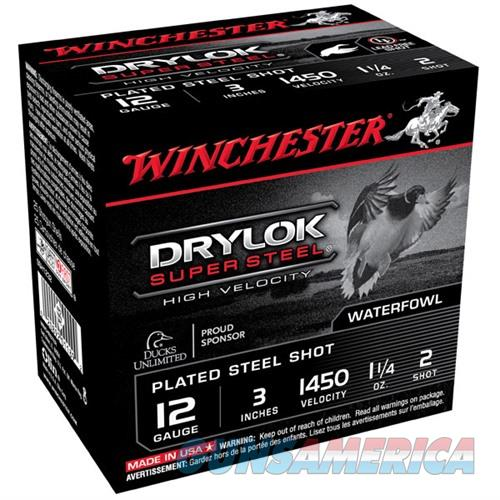 Winchester Drylok Super Steel HV 12ga 3'' 1-1/4oz. #2 25/bx  Non-Guns > Ammunition