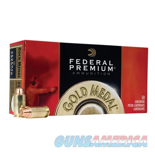 Federal Gold Medal 45 ACP 185gr FMJ SWC Match 50/bx  Non-Guns > Ammunition