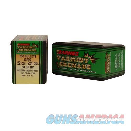 Barnes Bullet 22cal .224 dia 50gr. Varmint Grenade  Non-Guns > Reloading > Components > Bullets