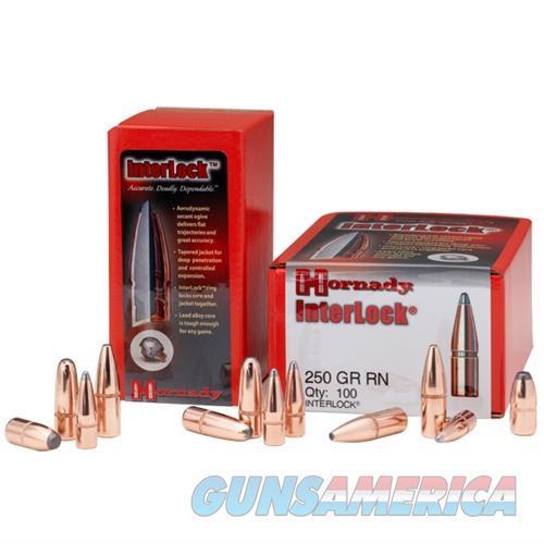 Hornady 338 Cal Bullets 250gr InterLock RN 100/bx  Non-Guns > Reloading > Components > Bullets