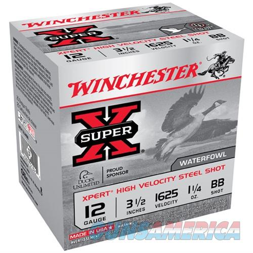 WINCHESTER SUPER-X XPERT HV STEEL 12GAUGE 3.5' 1-1/4OZ #BB 25/BX  Non-Guns > Ammunition