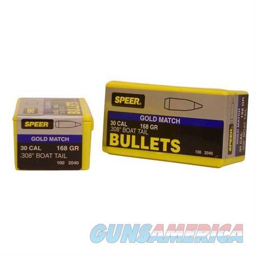 Speer Bullet .30 .308 168GR BT Match  Non-Guns > Reloading > Components > Bullets