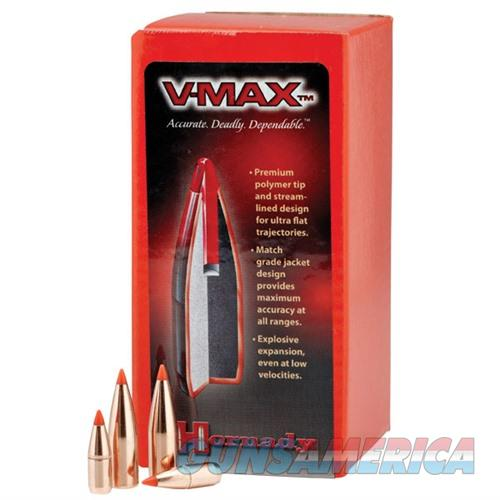 Hornady 22 Cal .224 55gr V-Max w/ Cann. 100/bx  Non-Guns > Reloading > Components > Bullets