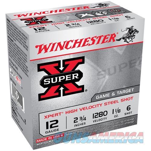 WINCHESTER SUPER-X XPERT HV STEEL 12GAUGE 2.75' 1-1/8OZ #6 25/BX  Non-Guns > Ammunition