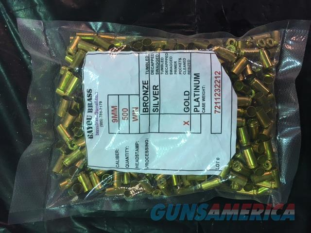 FS: 500 Bayou Brass GOLD Processed 9mm Once Fired Brass Cartridges, Matching WIN Headstamps  Non-Guns > Reloading > Components > Brass
