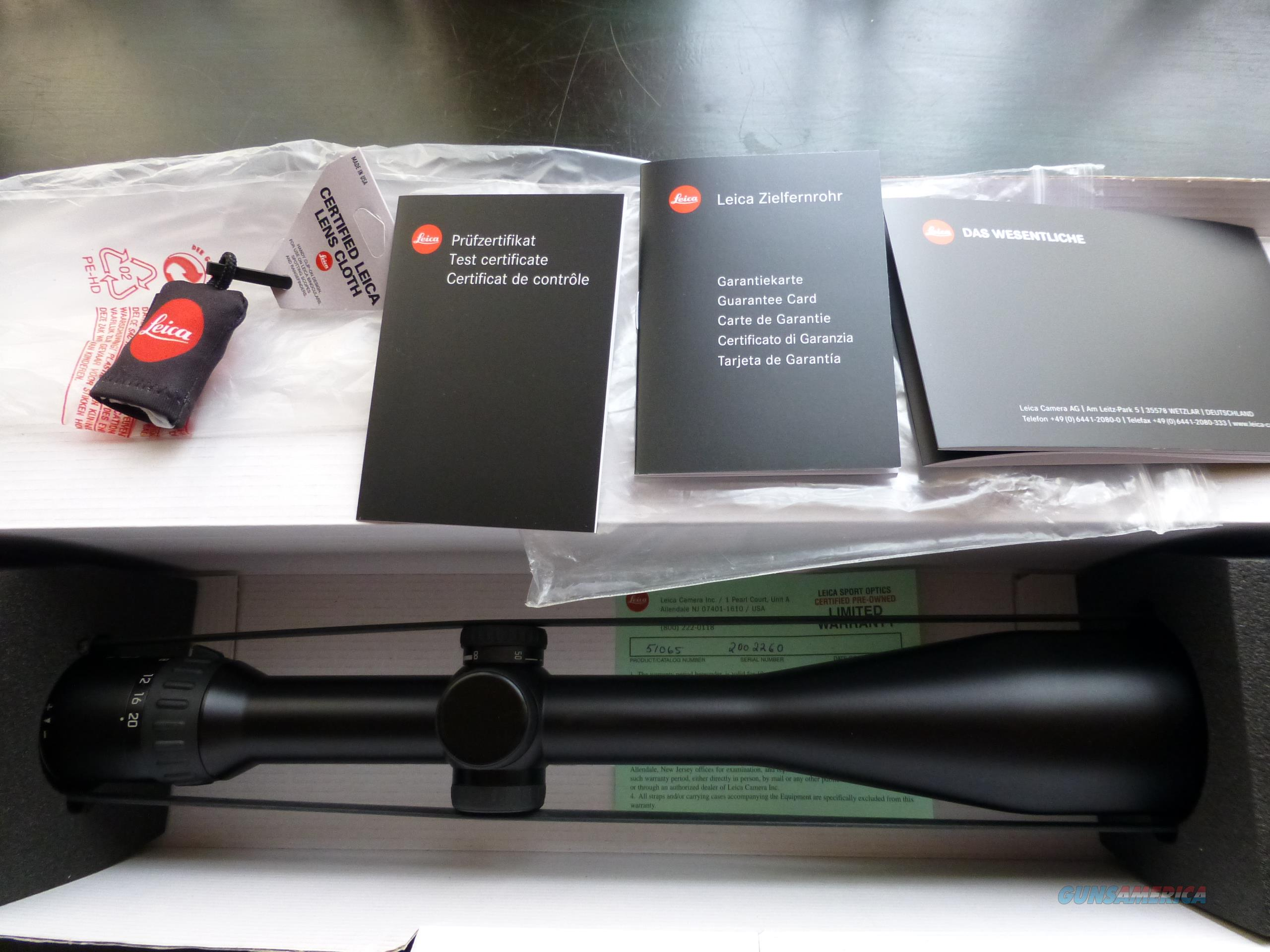 Leica ER5 4-20x50 Magnum Ballistic 51065 reticle  Non-Guns > Scopes/Mounts/Rings & Optics > Rifle Scopes > Variable Focal Length