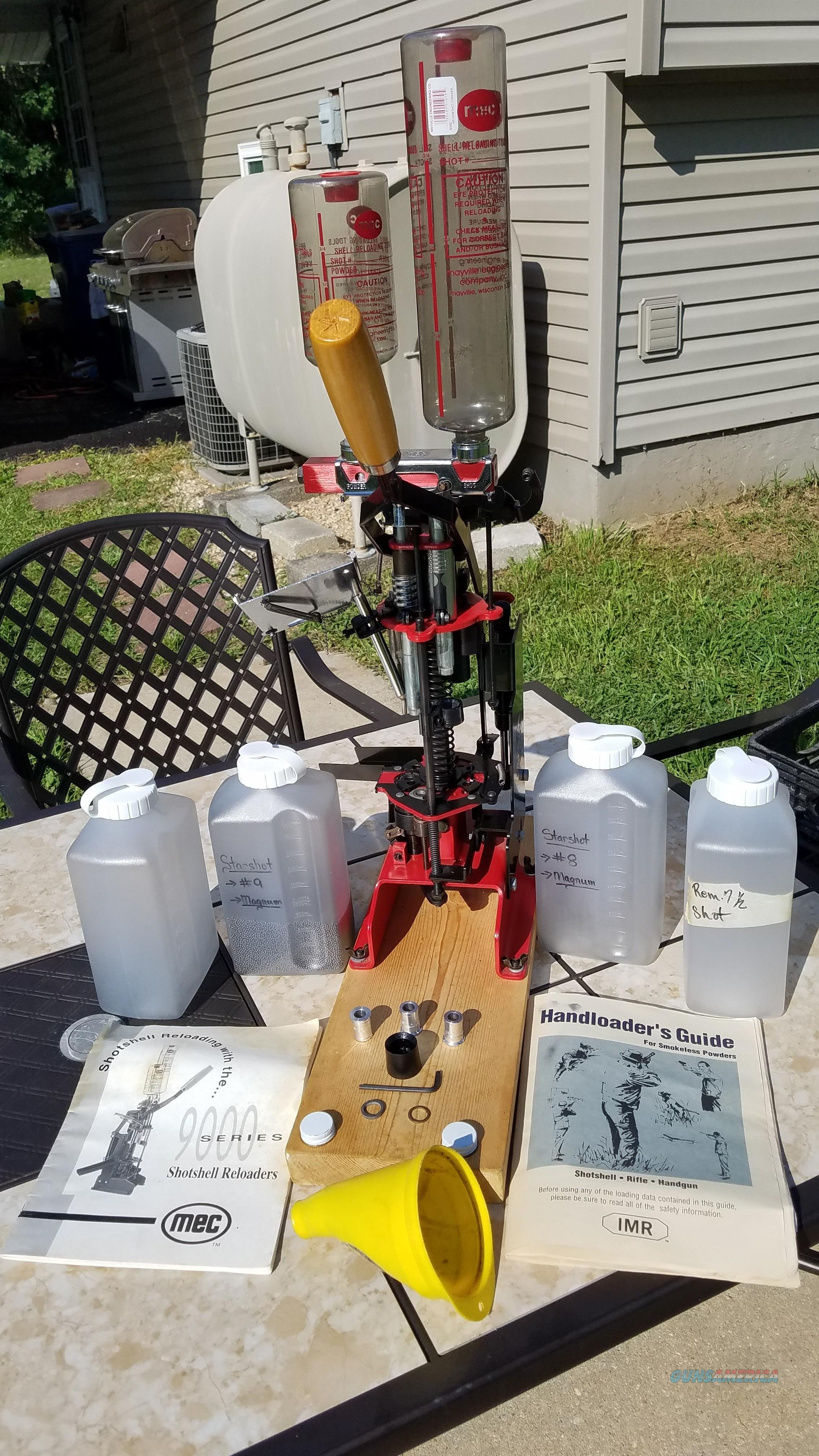 SOLD!!!!!!! - PRE-OWNED MEC SERIES 9000G 12 GA PROGRESSIVE RELOADER. PLUS EXTRAS. ORIGINAL OWNER!!!  Non-Guns > Reloading > Equipment > Shotshell > Presses