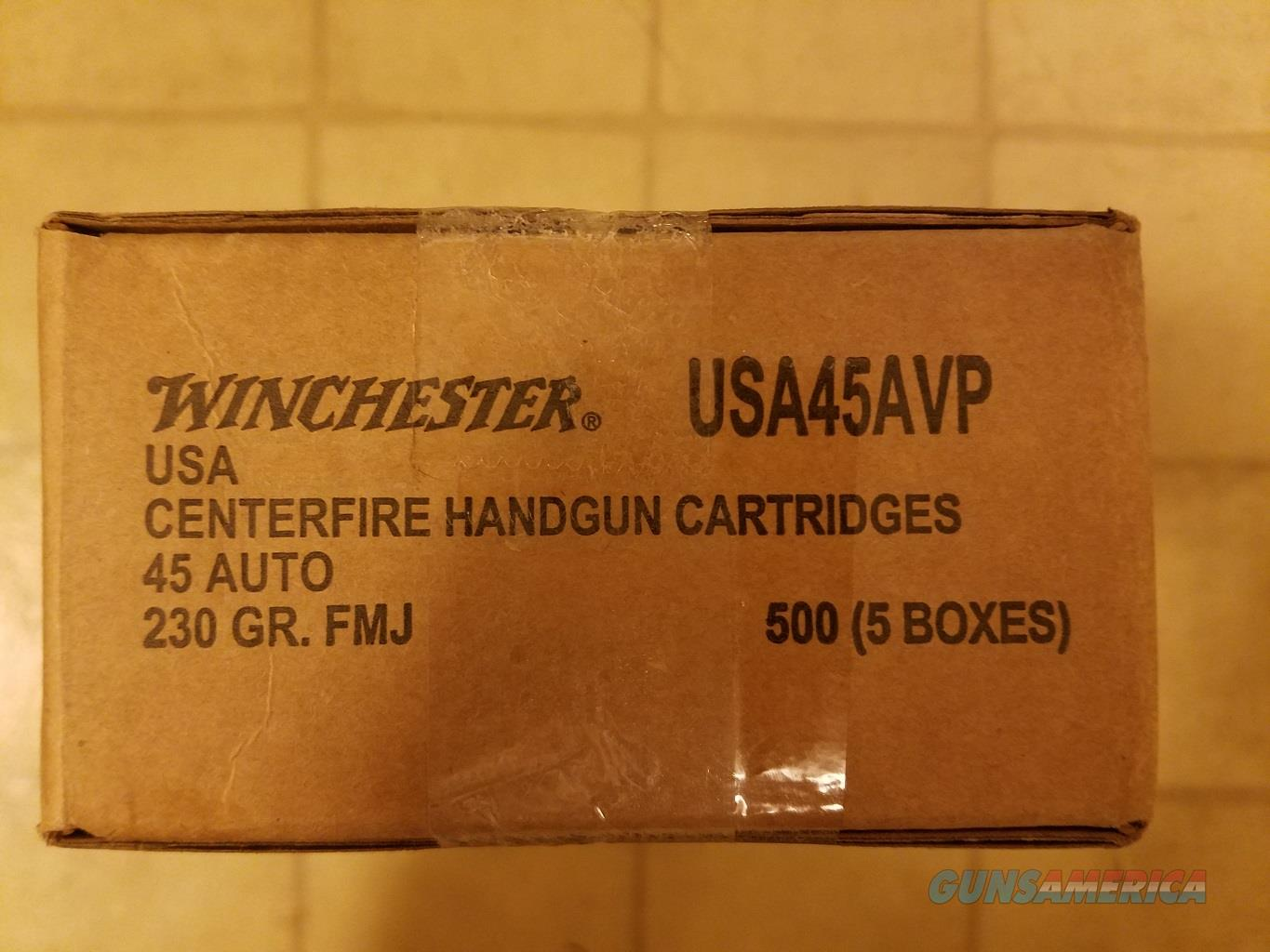 500 rounds of .45 ACP Winchester FMJ ammo. Unopened Case.  Non-Guns > Ammunition