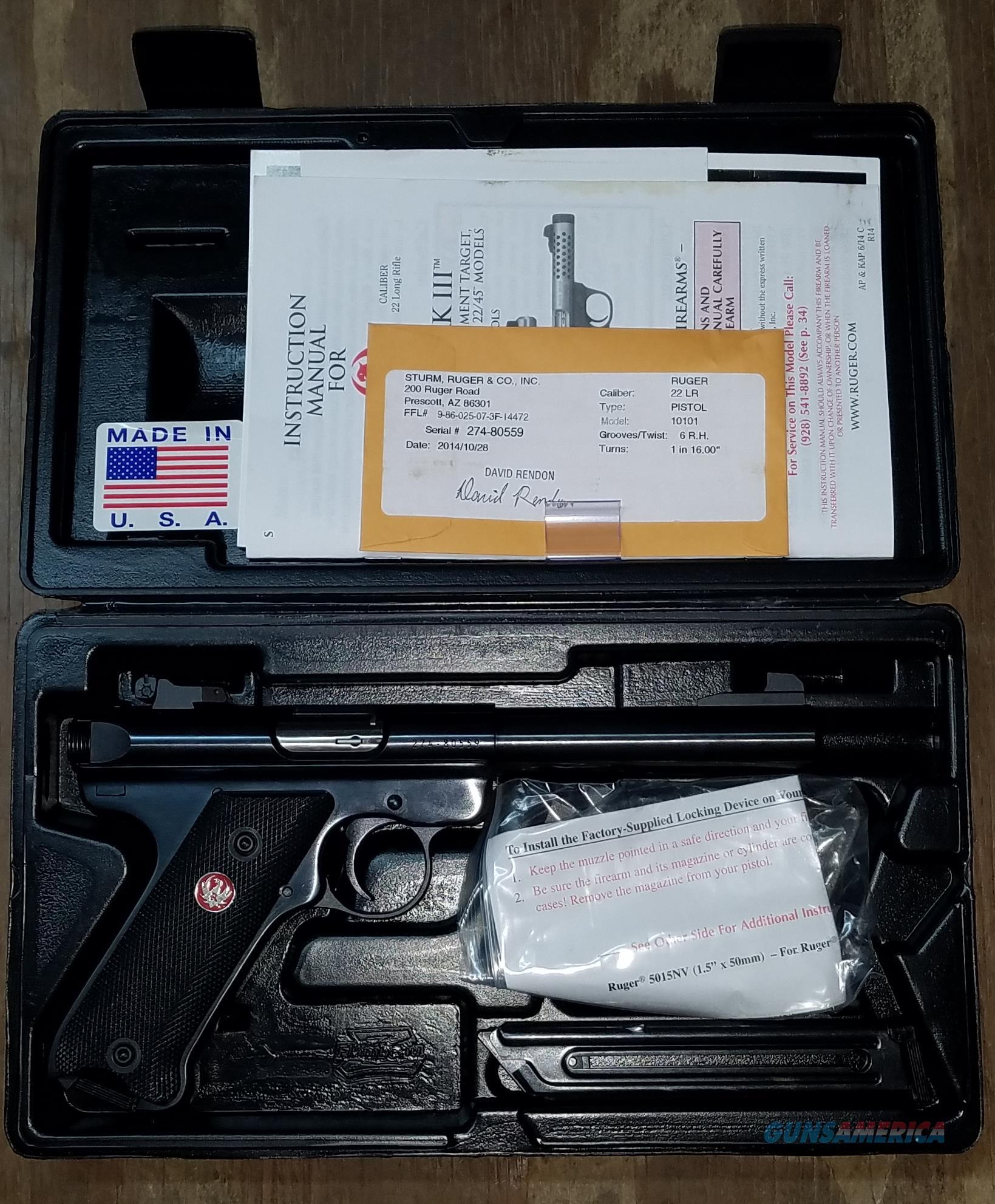 Ruger Mark III .22 LR Pistol 10105  Guns > Pistols > Ruger Semi-Auto Pistols > Mark I/II/III/IV Family