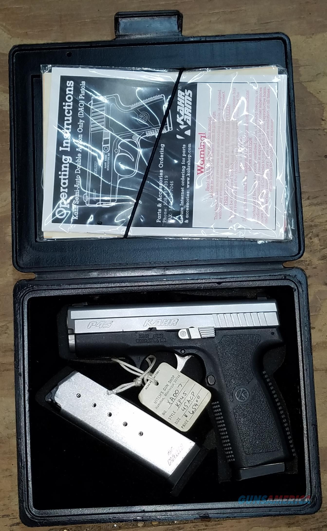 Kahr Arms KP4543 .45ACP P45  Guns > Pistols > Kahr Pistols