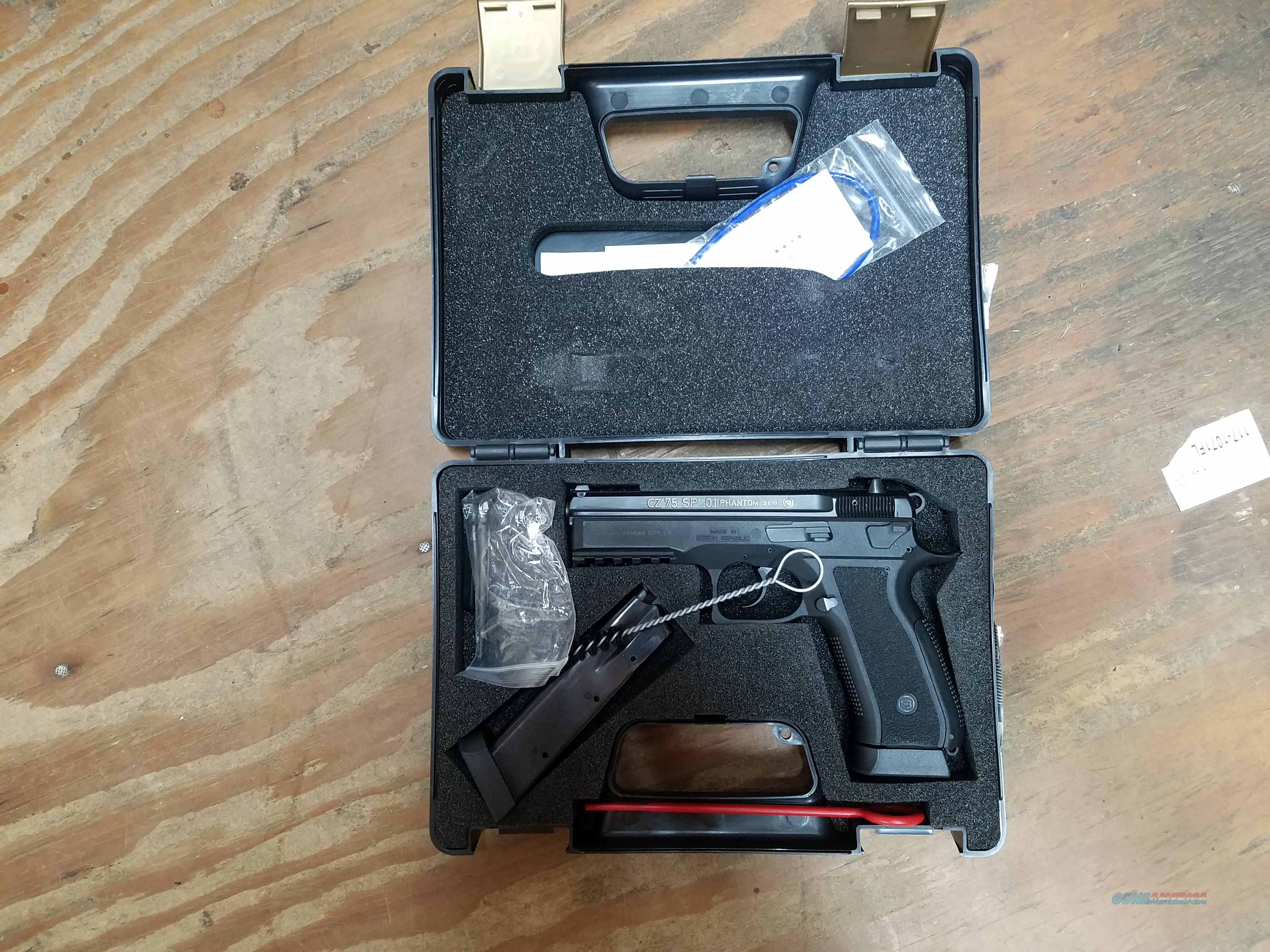 CZA Used SP-01 Phantom 9MM Luger Black Pistol 91258  Guns > Pistols > CZ Pistols