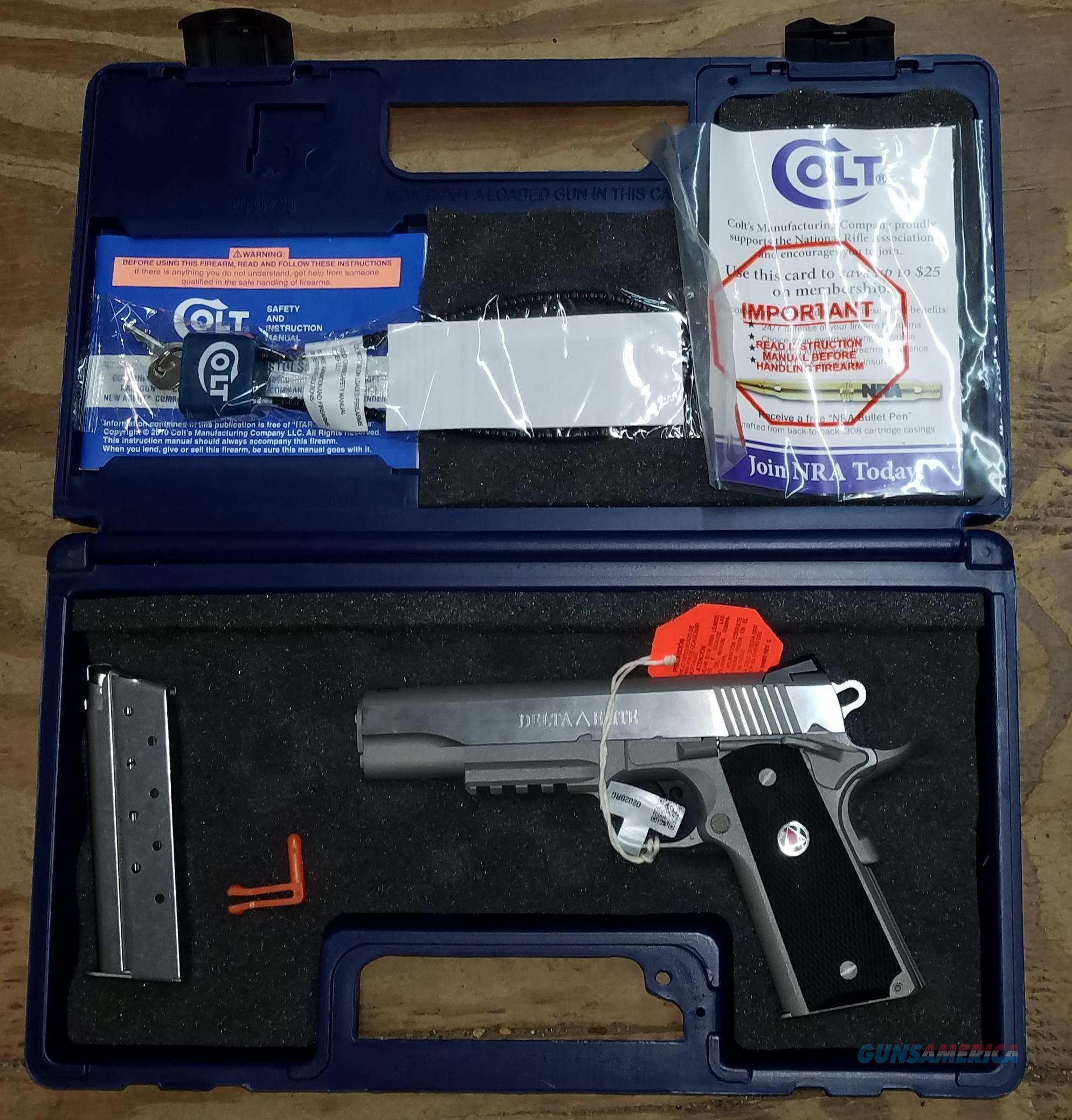 Colt Delta Elite 10MM Model 02020RG  Guns > Pistols > Colt Automatic Pistols (1911 & Var)