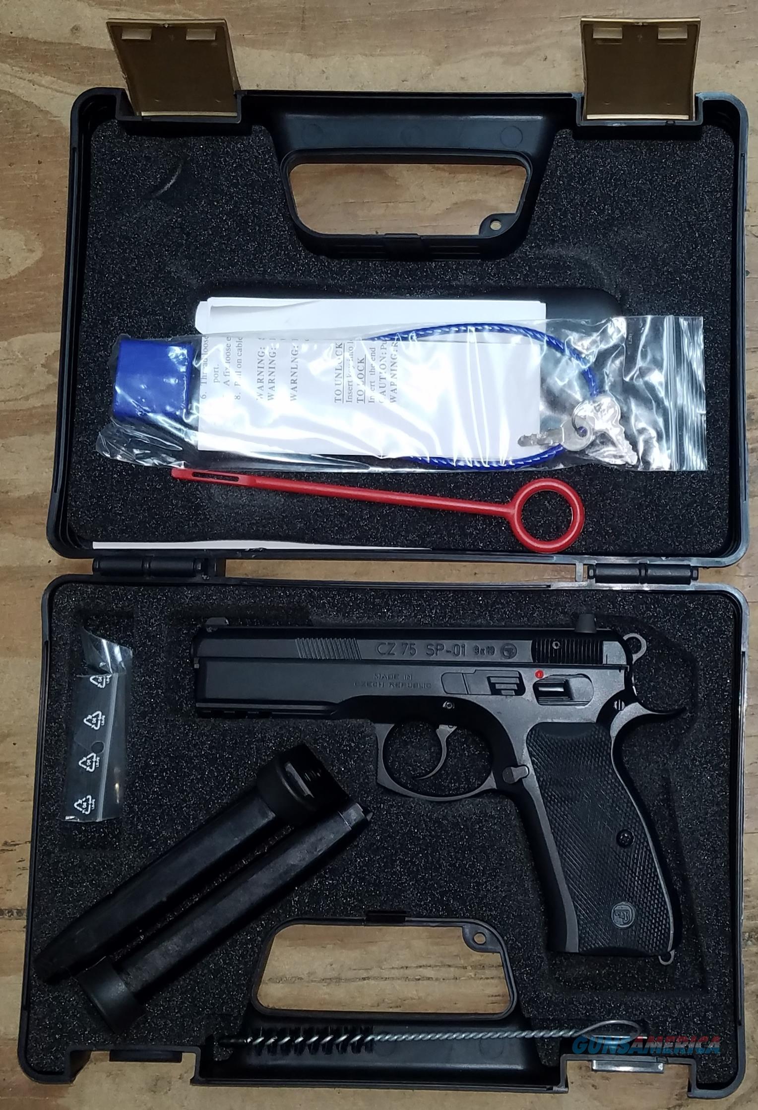 CZ USA 9MM Black Luger CZ 75 SP01 Handgun 91153  Guns > Pistols > CZ Pistols