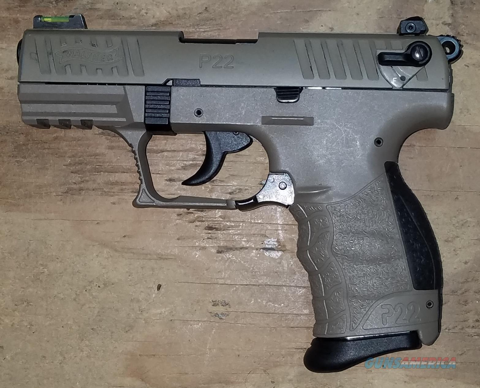 Walther P22 Tactical FDE 512.03.53  .22 LR Pistol 5120353  Guns > Pistols > Walther Pistols > Post WWII > P22