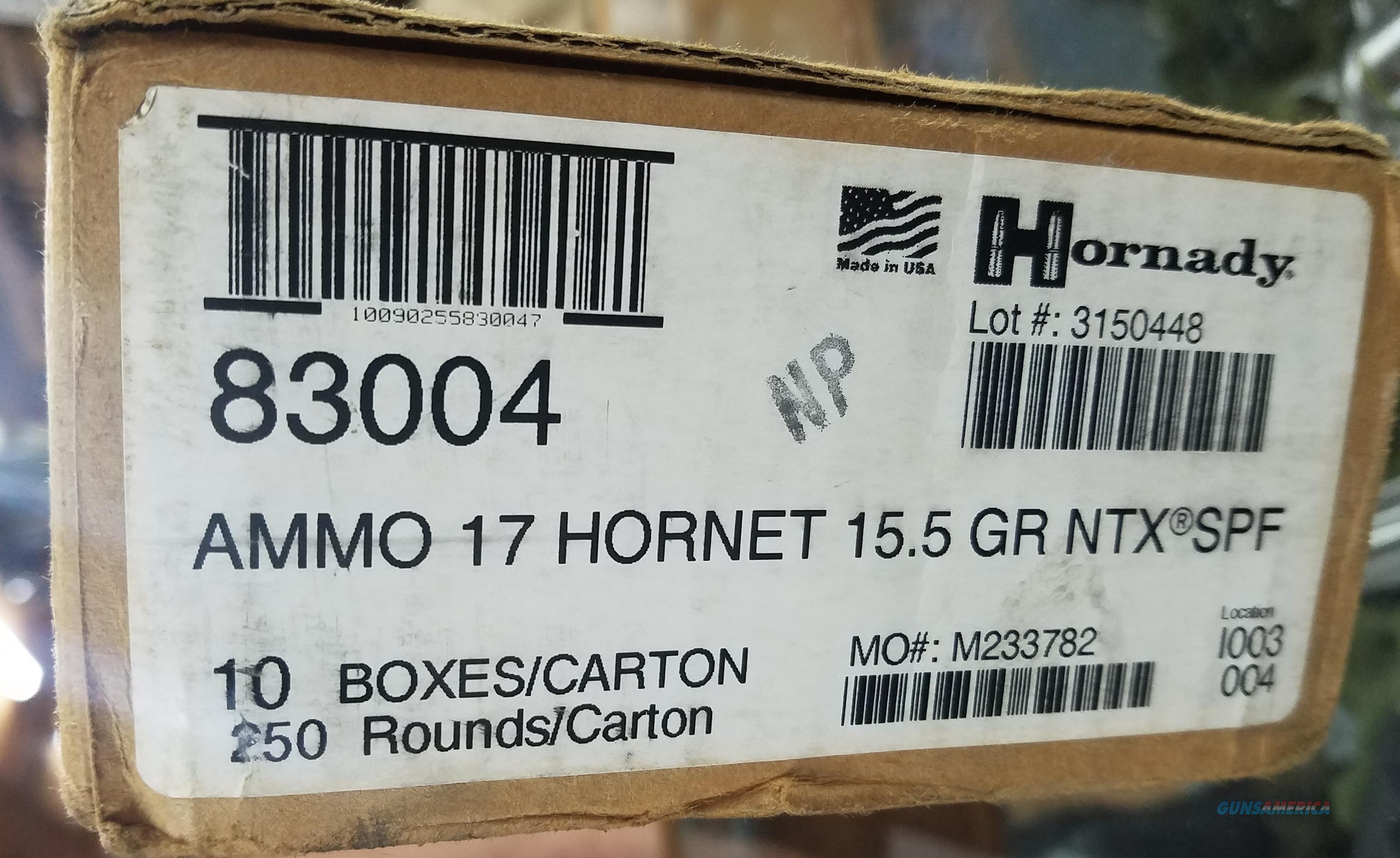 Hornady .17 Hornet 15.5 gr Superformance 25 Rounds Ammunition - 83004  Non-Guns > Ammunition