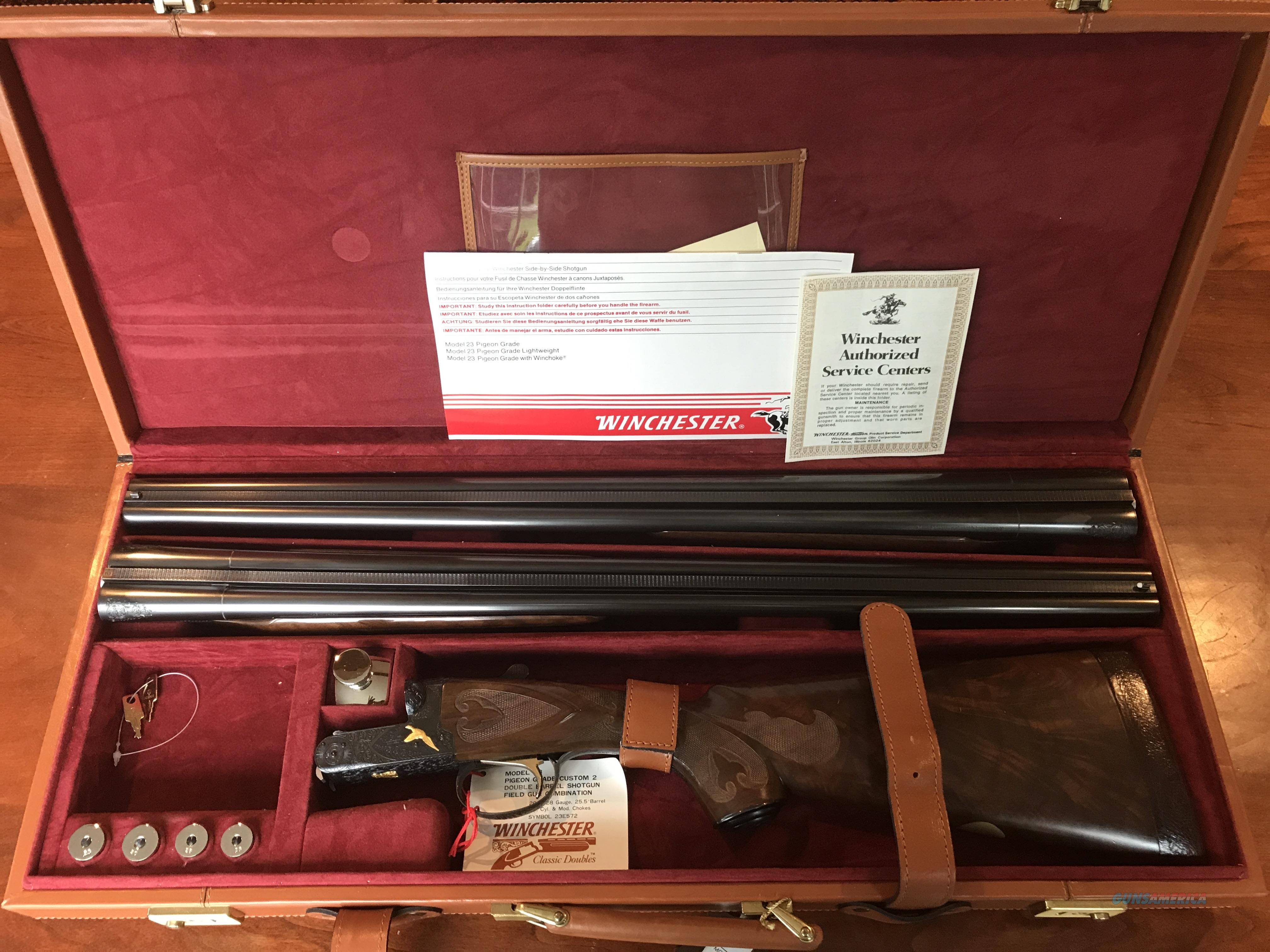 Winchester Model 23 Hunter  2 Barrel Set/Pigeon Grade with Gold Inlays  Guns > Shotguns > Winchester Shotguns - Modern > SxS