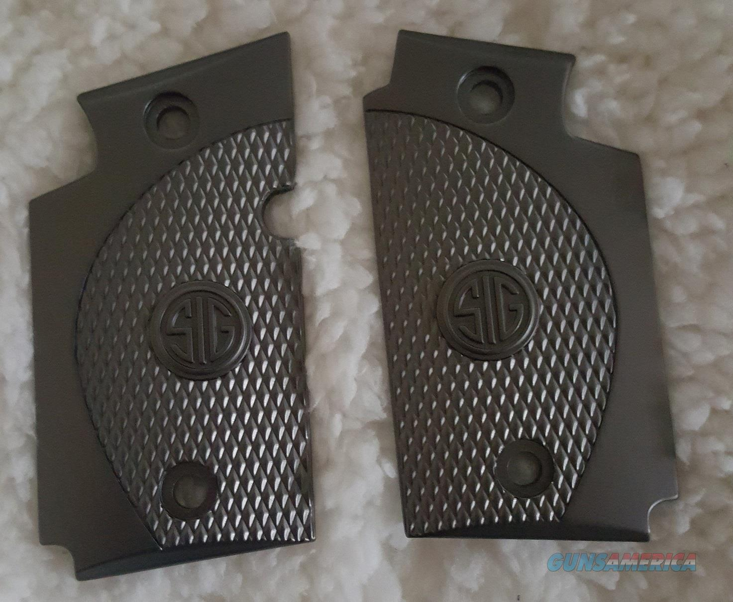 Exclusive LUXURY For Sig Sauer P938 Custom Metal Checkered Grips Black  Non-Guns > Gun Parts > Grips > Other