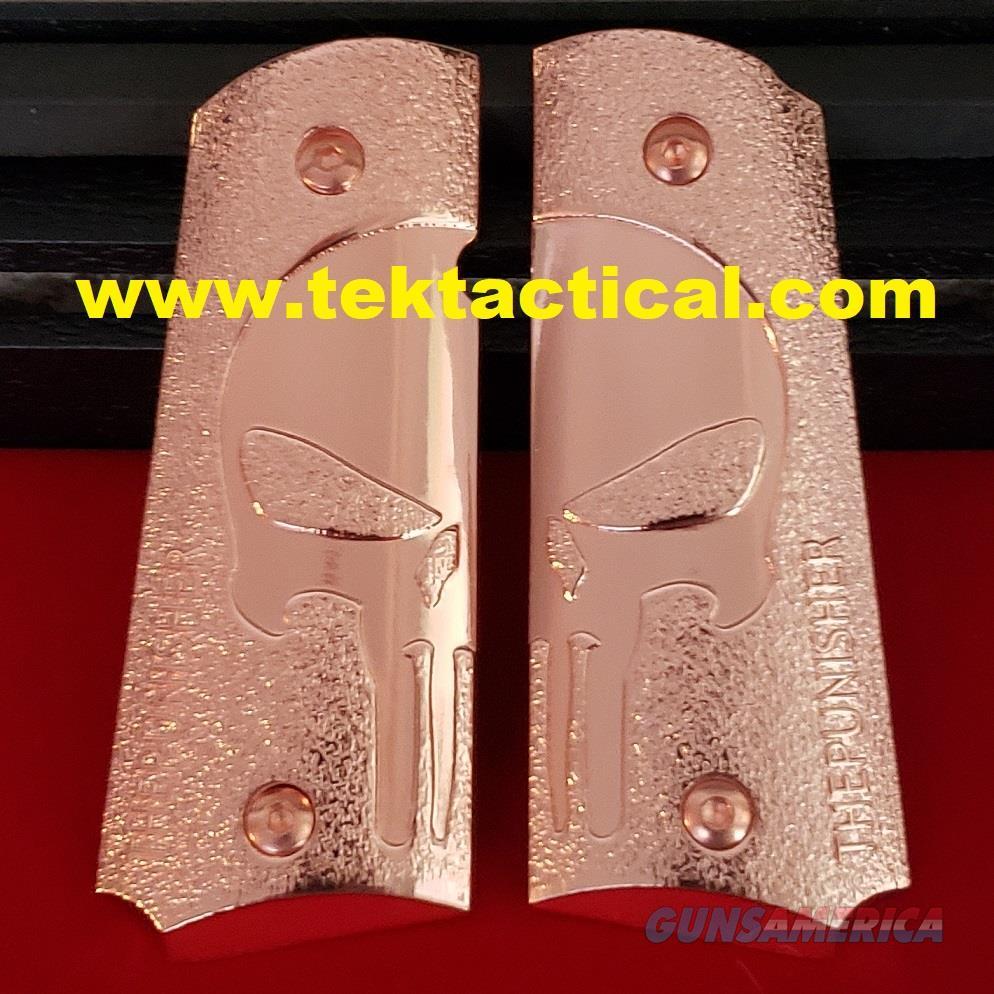 1911 GRIPS 1911 Full Size Grips Government Punisher Rose Gold 1911 grips screws  Non-Guns > Gun Parts > Grips > 1911