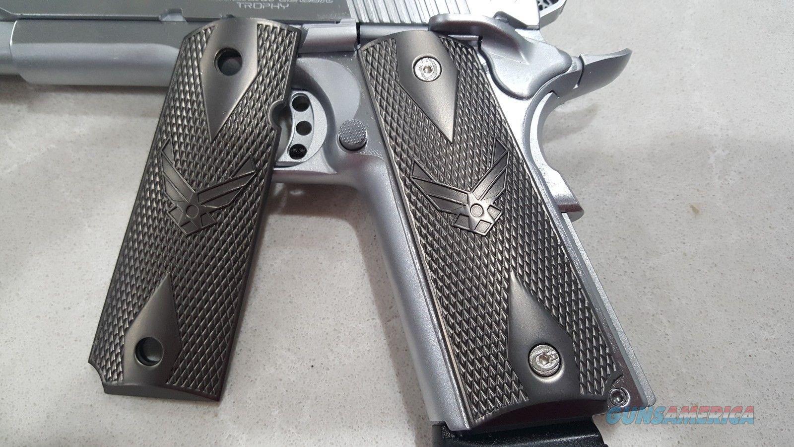 1911 Grips Custom METAL GRIPS Colt Full Size Government US Air Force Black  Non-Guns > Gun Parts > 1911