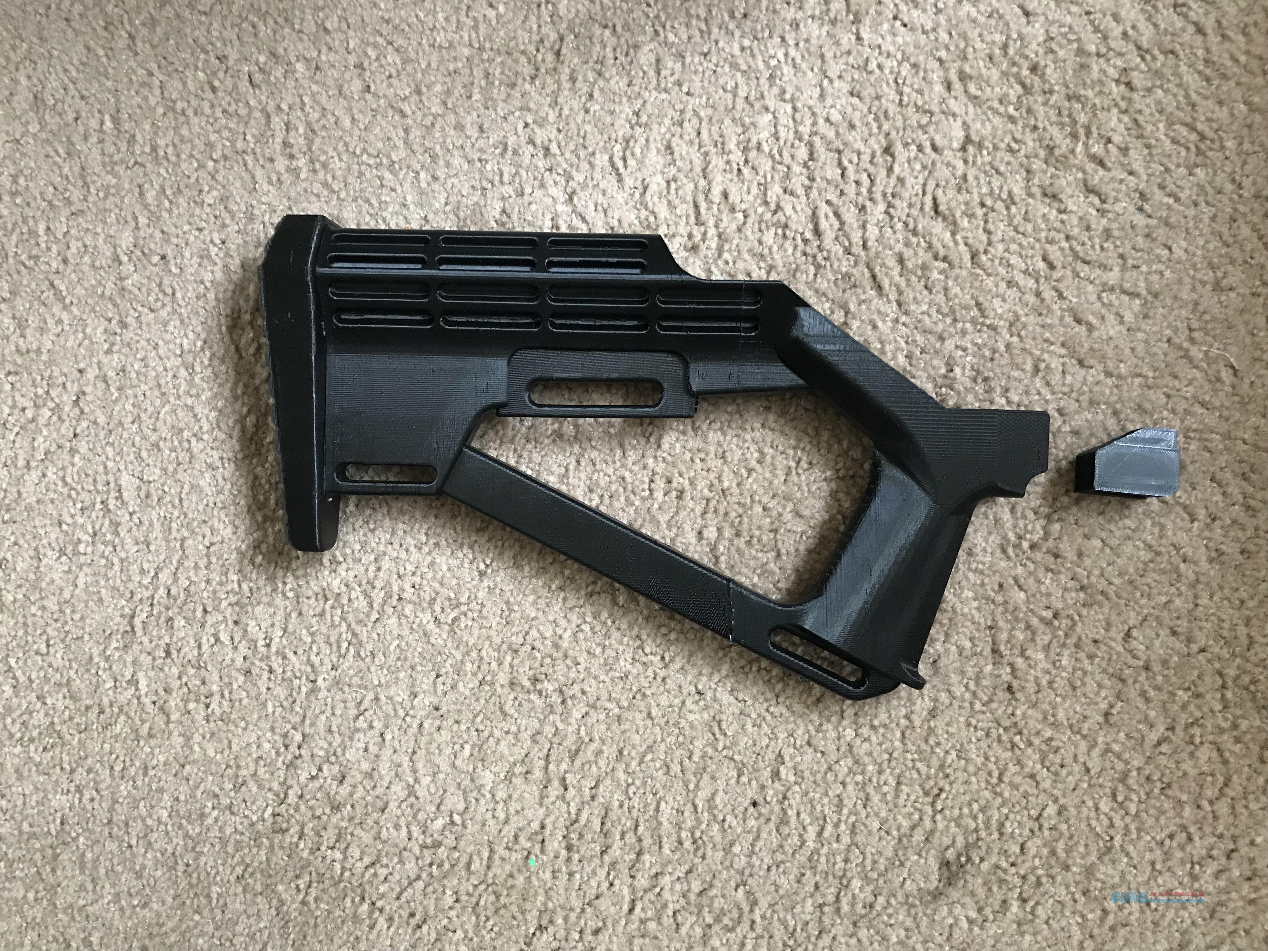 2 Disruptive Solutions Bump Fire Stocks  AR-15 3D Printed Right or Left Handed, Black  Non-Guns > Gunstocks, Grips & Wood