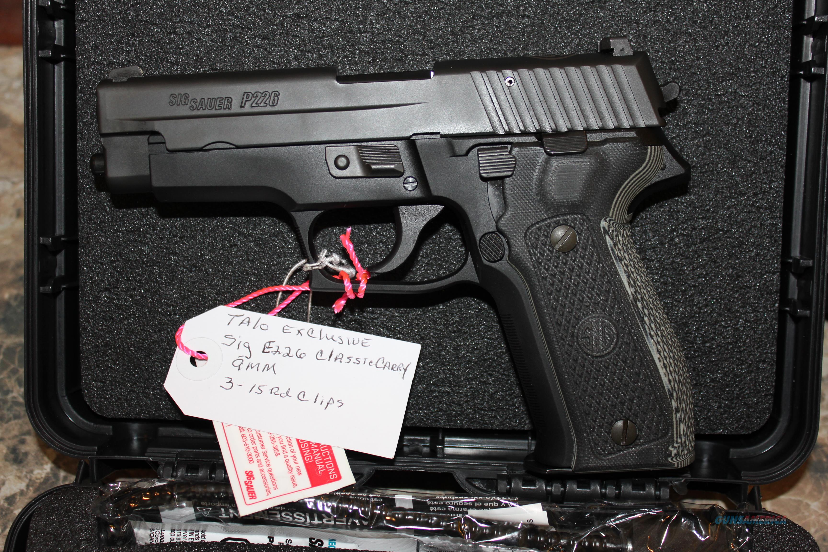 Sig P226 Classic Carry 9MM Classic Carry  Guns > Pistols > Sig - Sauer/Sigarms Pistols > P226