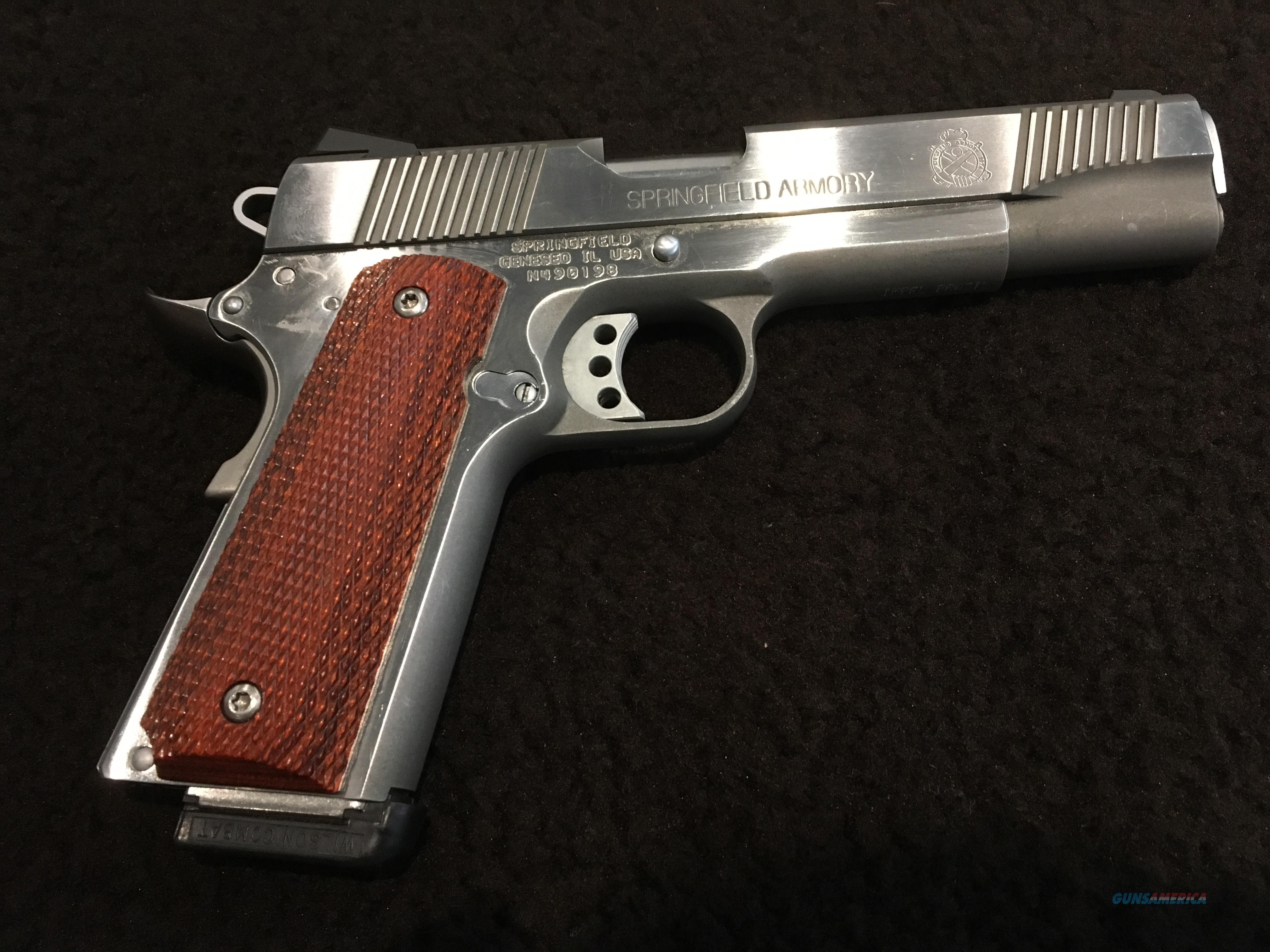 Springfield Armory 1911 with Wilson Combat Thumb Safety, Grip Safety, and Ejector  Guns > Pistols > Springfield Armory Pistols > 1911 Type
