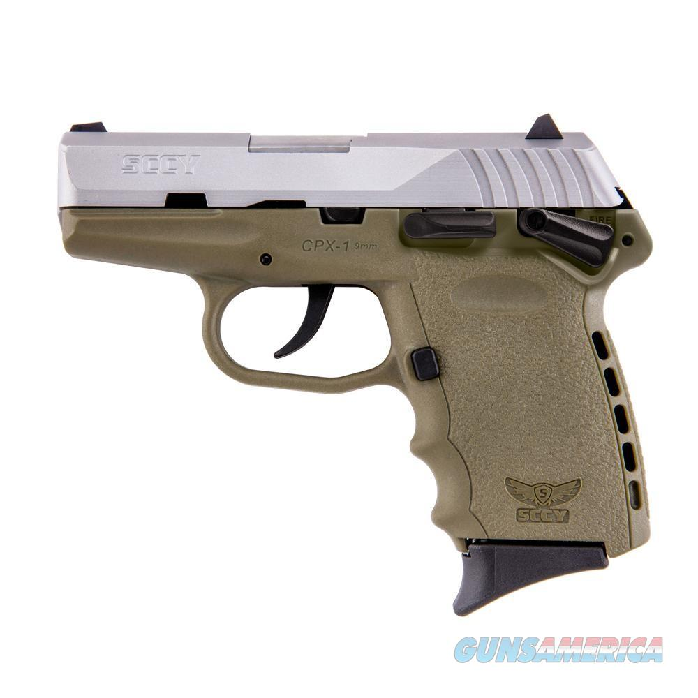SCCY 9mm AMBI SAFETY SS SLIDE FDE FRAME (2) 10RD MAGS  Guns > Pistols > SCCY Pistols > CPX1