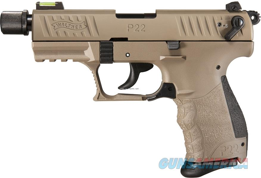 "Walther 5120553 P22QD Semi-Auto Pistol 22 LR, 3.42"" Bbl, Tactical FDE, 10 Round Mag, Extra Mag LAYAWAY 60 DAYS SAME AS CASH!  Guns > Pistols > Walther Pistols > Post WWII > P22"