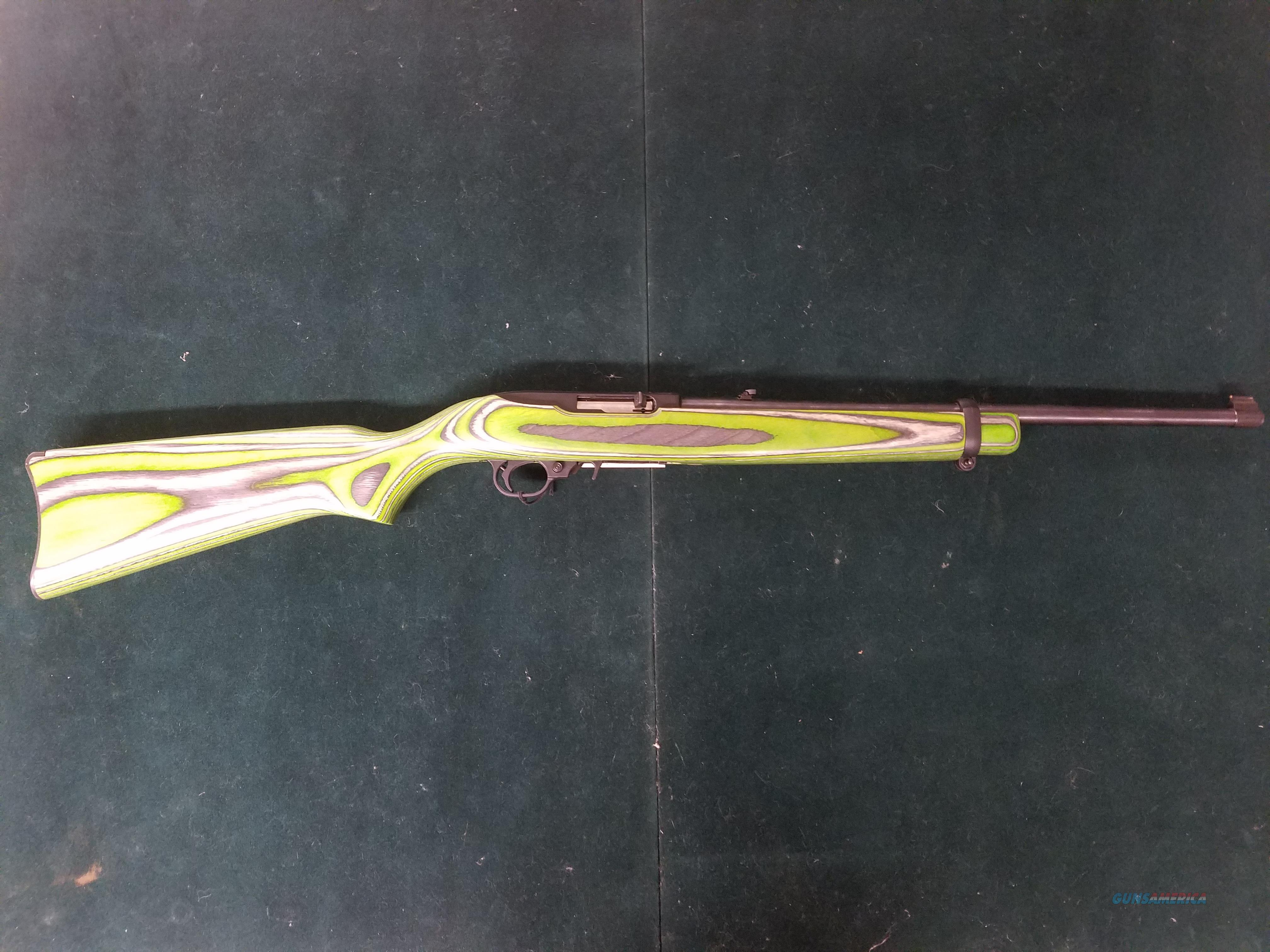 Ruger 10/22 Semi Auto Rifle Green  Guns > Rifles > Ruger Rifles > 10-22