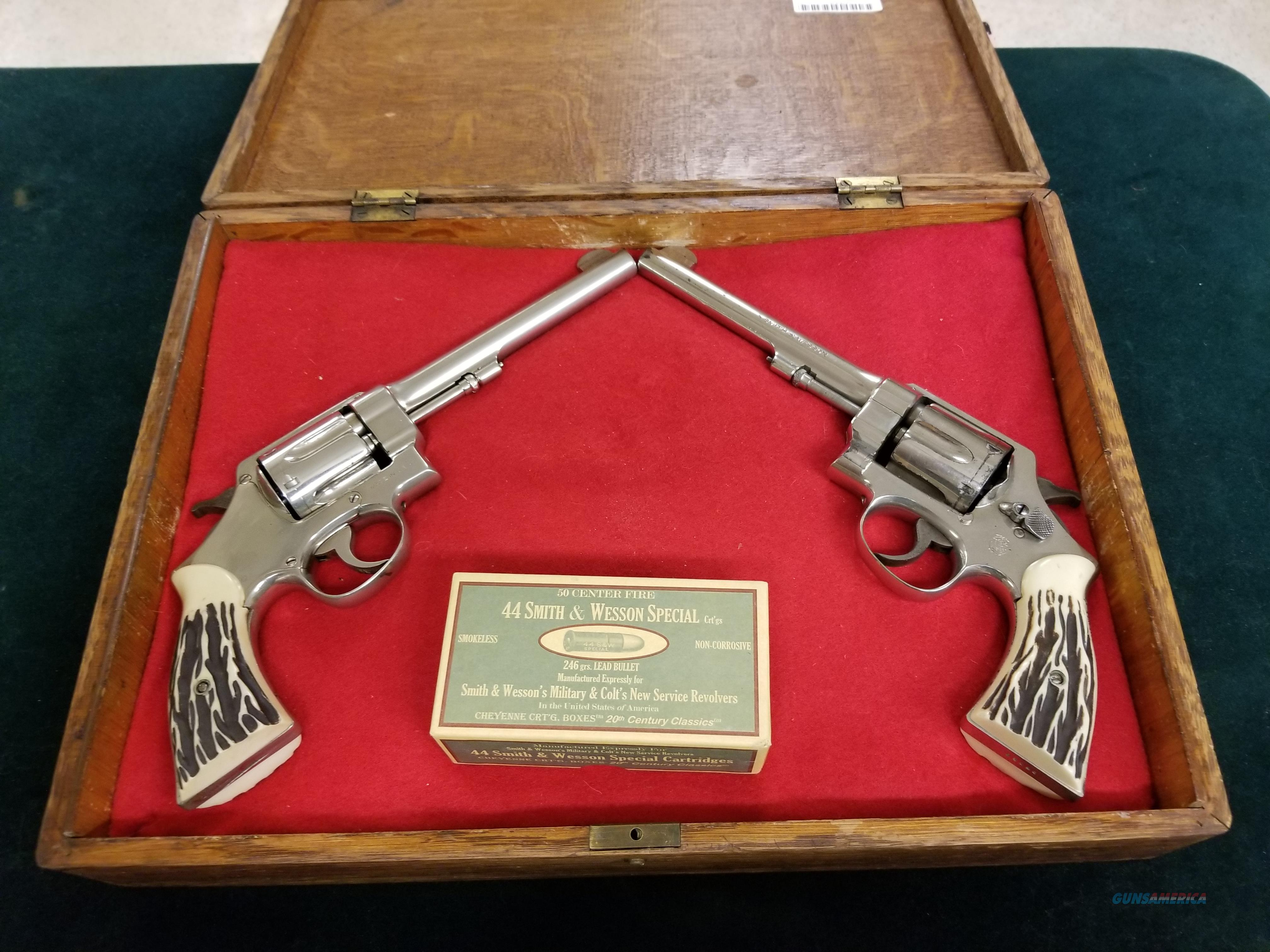 A pair of law enforcement history  Guns > Pistols > Smith & Wesson Revolvers > Pre-1945